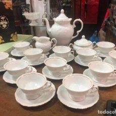 Vintage: PRECIOSO JUEGO CAFE CERAMICO CON 12 TAZAS. Lote 233702620
