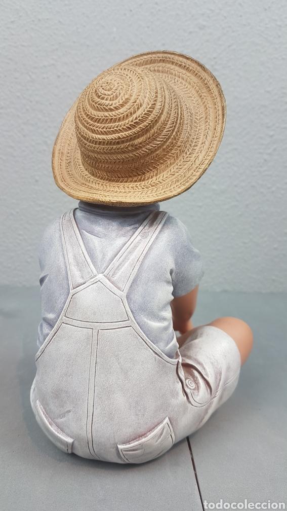 Vintage: Figura de niño sentado de cerámica Edición limitada de Nadal Studio Alarcon numerada 0592/5000. - Foto 3 - 233981435