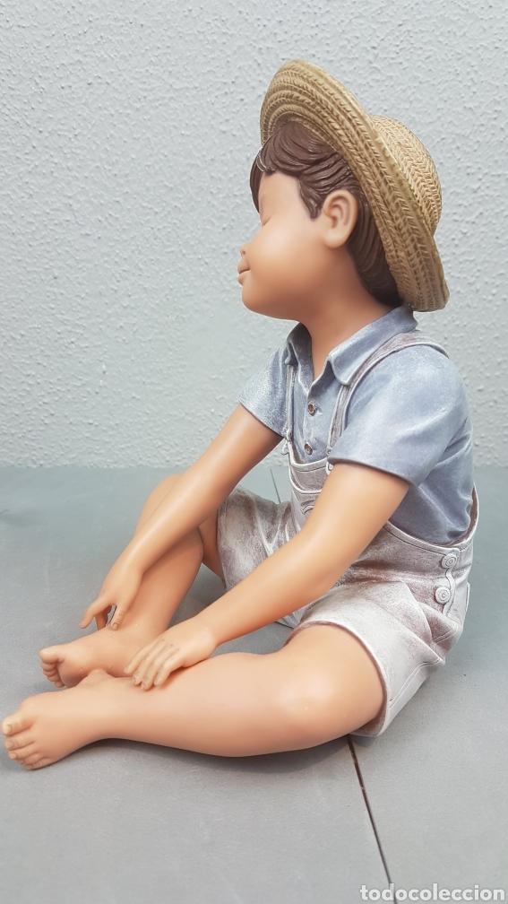Vintage: Figura de niño sentado de cerámica Edición limitada de Nadal Studio Alarcon numerada 0592/5000. - Foto 5 - 233981435