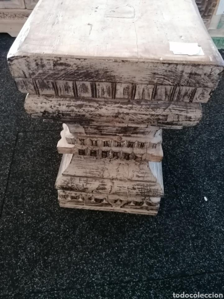 Vintage: Pedestal o basa de madera - Foto 3 - 234811065