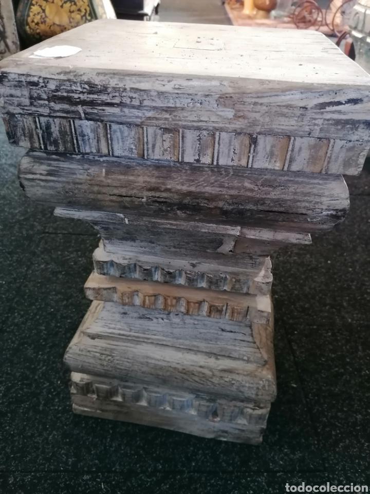 Vintage: Pedestal o basa de madera - Foto 4 - 234811065