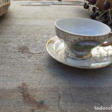 Vintage: TAZA Y PLATO. Lote 234841450