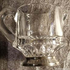 Vintage: JARRITA DE CRISTAL CON BASE DE PLATA. Lote 235784820
