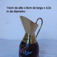 Vintage: BONITO JARRÓN CON ASA, PEINT MAIN HANDBEMALT. Lote 236509840