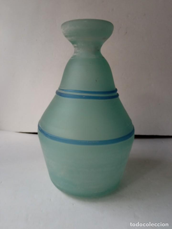 JARRON DE CRISTAL O VIDRIO GLASEADO (Vintage - Decoración - Jarrones y Floreros)
