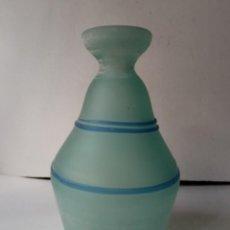 Vintage: JARRON DE CRISTAL O VIDRIO GLASEADO. Lote 236618280