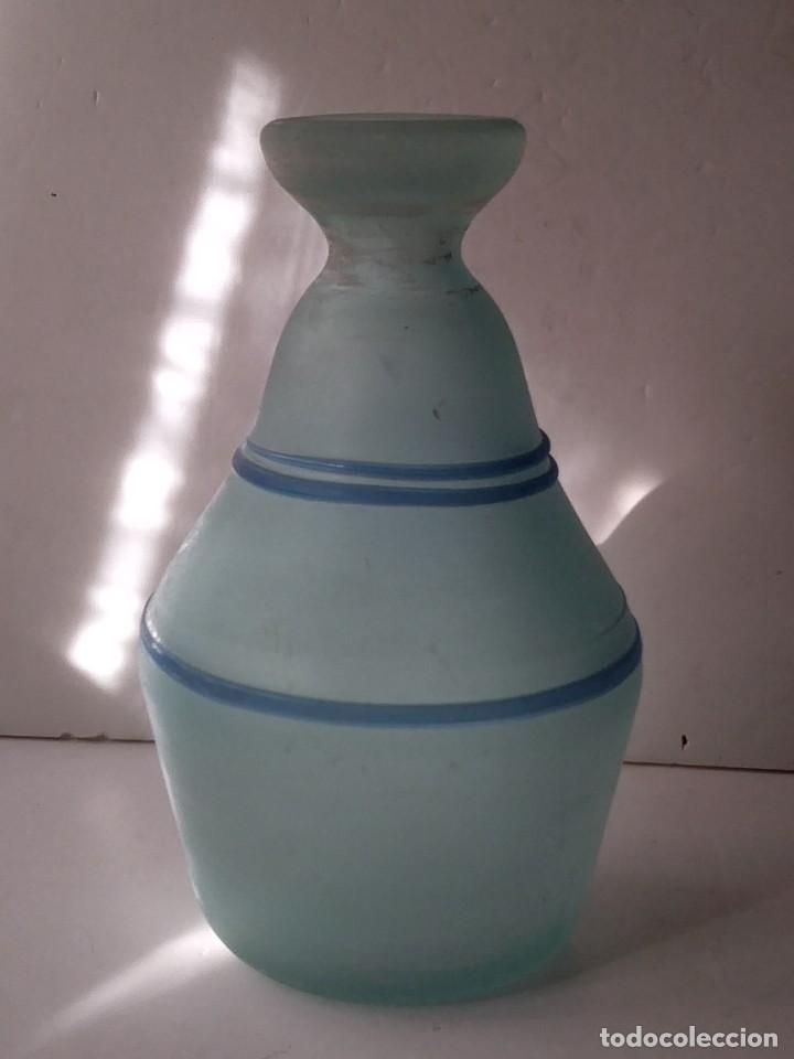 Vintage: JARRON DE CRISTAL O VIDRIO GLASEADO - Foto 2 - 236618280