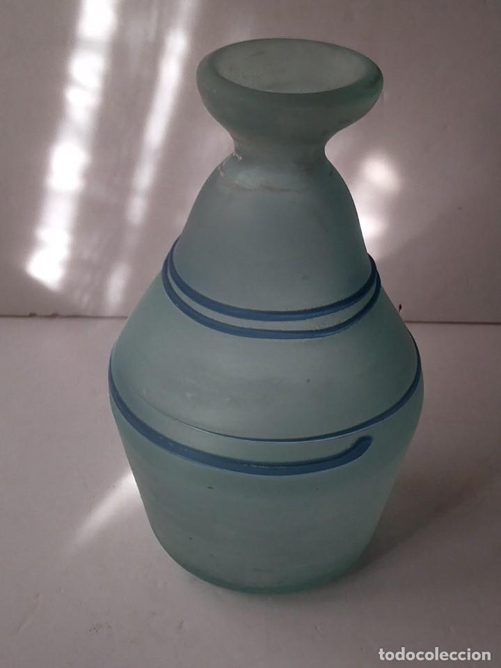 Vintage: JARRON DE CRISTAL O VIDRIO GLASEADO - Foto 3 - 236618280