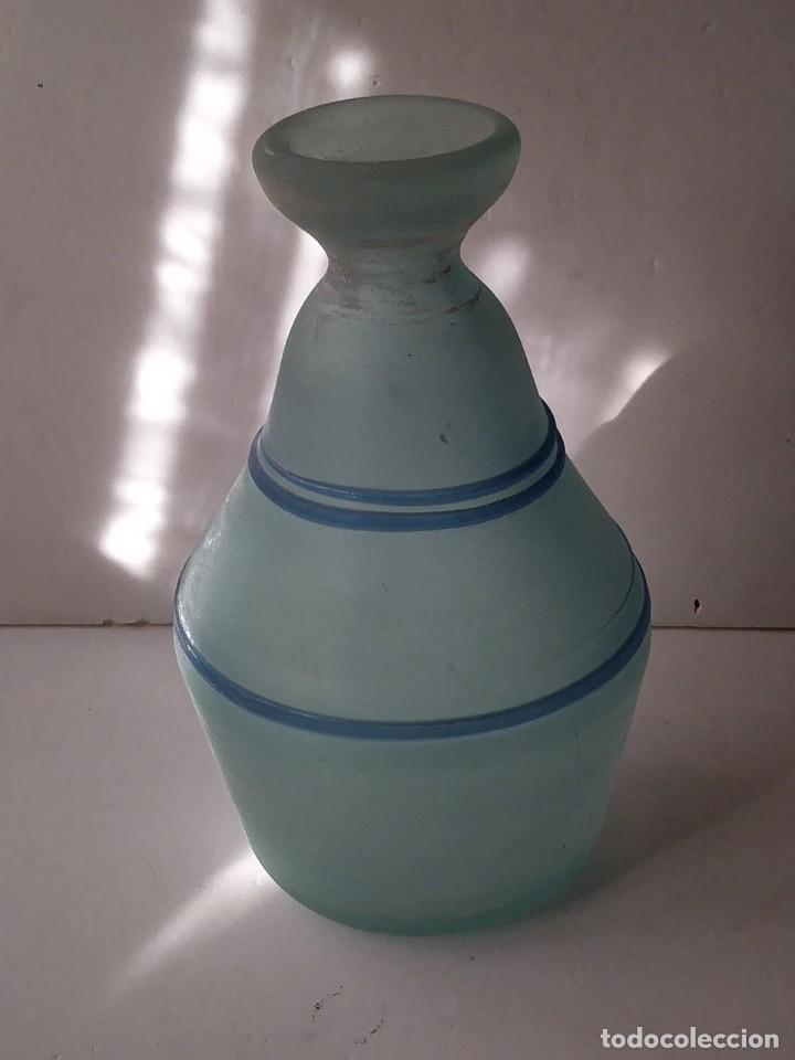 Vintage: JARRON DE CRISTAL O VIDRIO GLASEADO - Foto 6 - 236618280