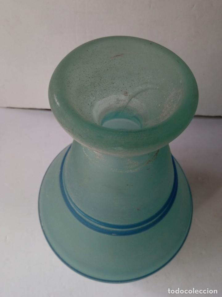 Vintage: JARRON DE CRISTAL O VIDRIO GLASEADO - Foto 8 - 236618280