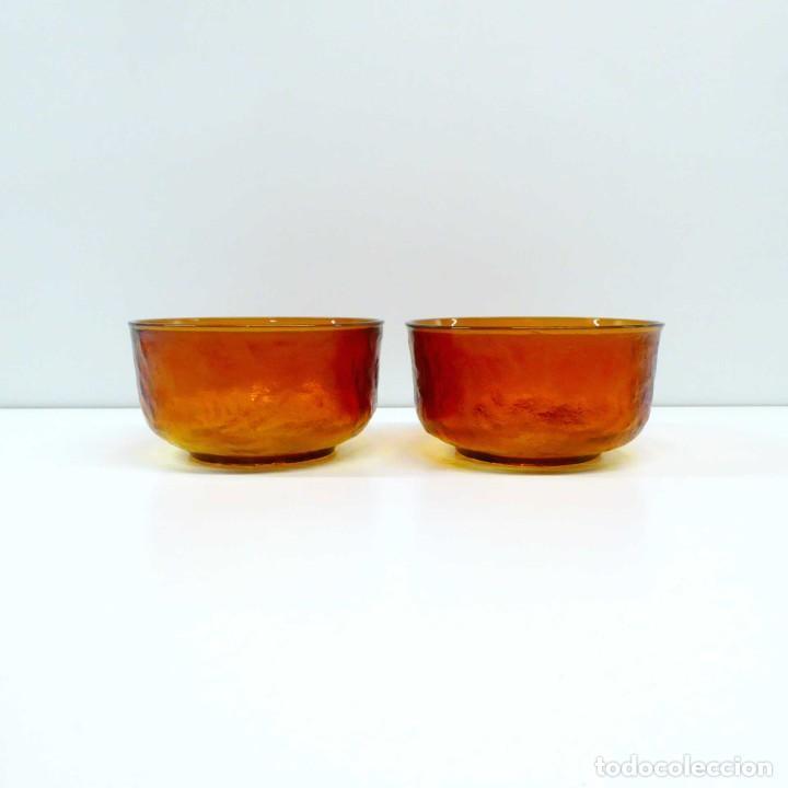 Vintage: Bol de cristal ámbar - set de 2 - Foto 3 - 236618890