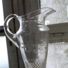Vintage: JARRA DE AGUA CRISTAL TALLADO. Lote 236687610