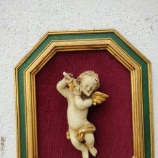 Vintage: CUADRO EXAGONAL CON ANGEL. Lote 237515890