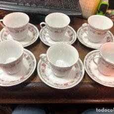 Vintage: JUEGO DE CAFE CERAMICA CHINA AÑOS 70 - MEDIDA TAZA 8,5X8 CM. Lote 240262410
