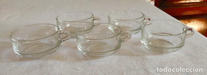 CINCO TAZAS CURIOSAS DE CRISTAL (Vintage - Decoración - Cristal y Vidrio)