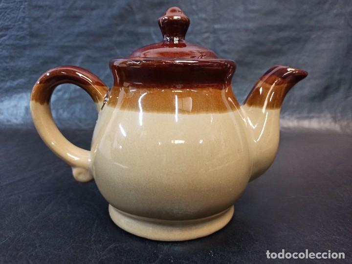 Vintage: Bella cafetera o tetera de cerámica vidriada. C47 - Foto 2 - 243986470