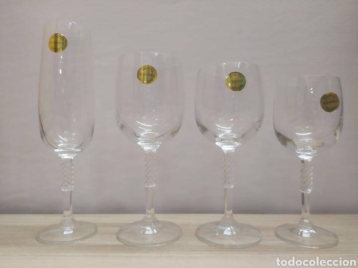 Vintage: Cristalería 24 copas cristal bohemia Carine. Sin uso - Foto 2 - 244498680