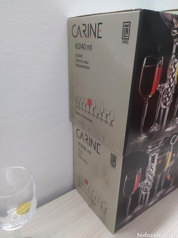 Vintage: Cristalería 24 copas cristal bohemia Carine. Sin uso - Foto 3 - 244498680