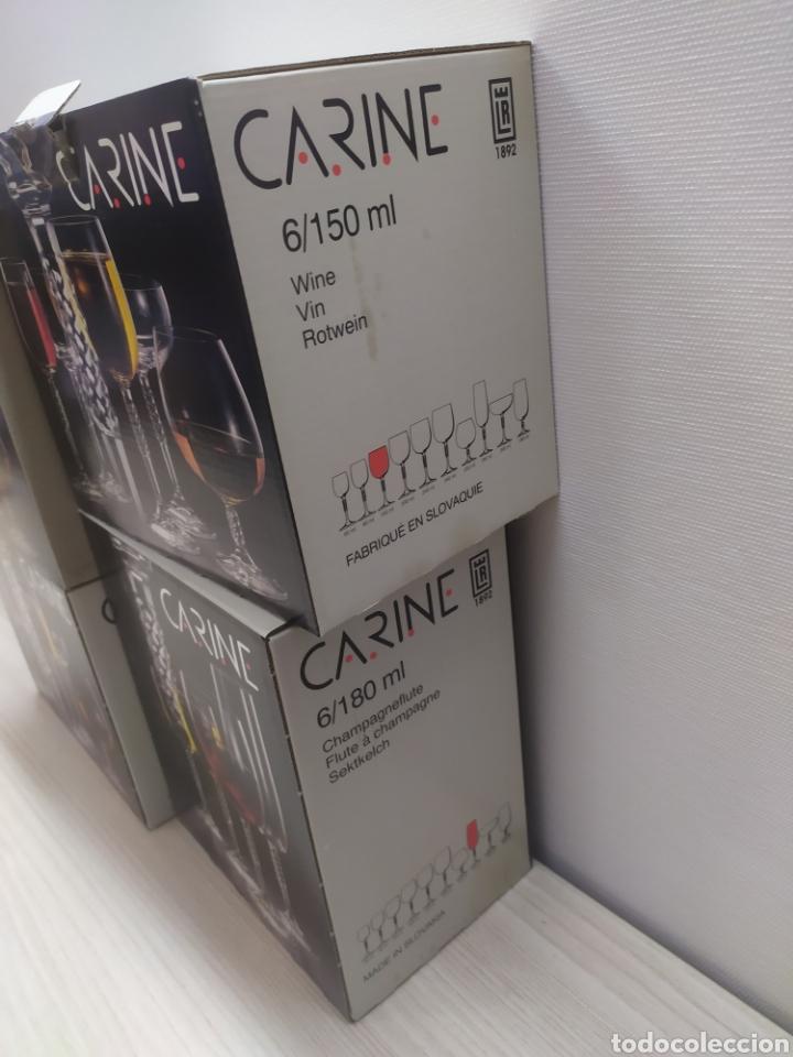 Vintage: Cristalería 24 copas cristal bohemia Carine. Sin uso - Foto 4 - 244498680