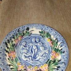 Vintage: ANTIGUO PLATO DE QUERUBINES. Lote 244844155