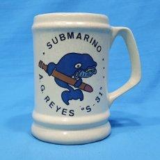 """Vintage: JARRA DE CERÁMICA - SUBMARINO A. G. REYES """" S - 31 """". Lote 245173055"""