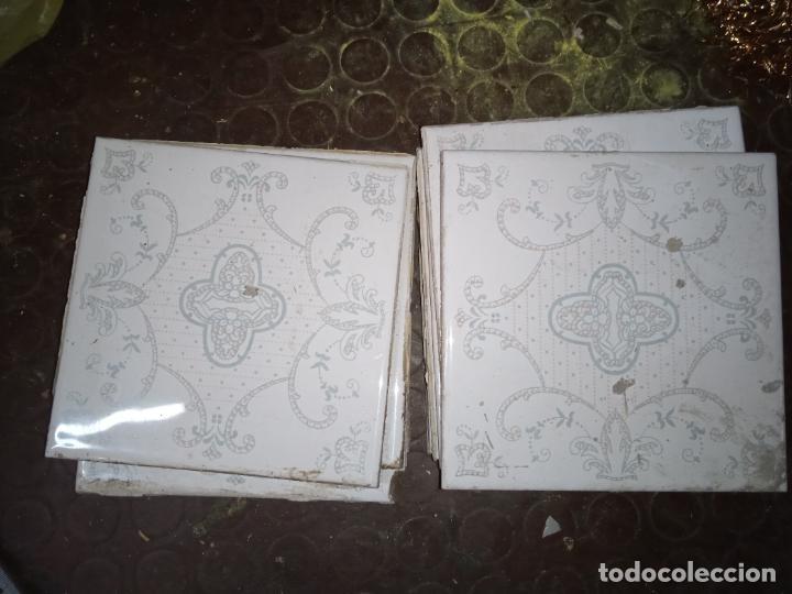 AZULEJOS COCINA-BAÑO AÑOS 60-70 15X15CM (Vintage - Decoración - Porcelanas y Cerámicas)