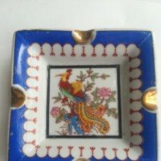 Vintage: ANTIGUO CENICERO DE PORCELANA CHINA. CREO AVE DEL PARAISO. AÑOS 80.. Lote 243005240