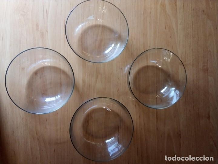 CUENCOS DE CRISTAL APERITIVO, POSTRE... LOTE 4 (Vintage - Decoración - Cristal y Vidrio)