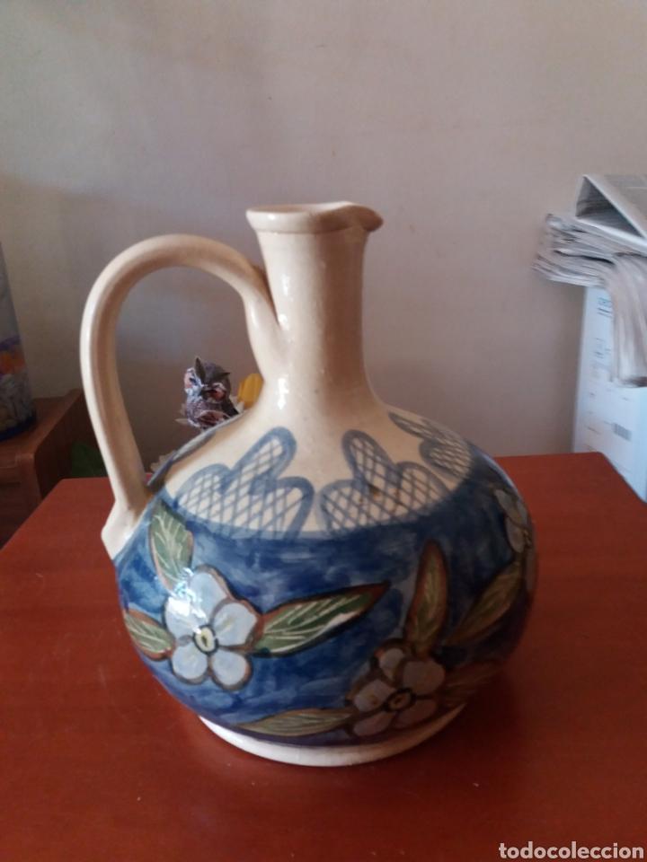 CÁNTARO DE CERÁMICA PINTADA A MANO (Vintage - Decoración - Porcelanas y Cerámicas)