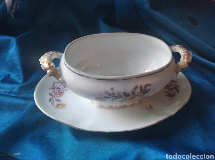 Vintage: Salsera porcelana flores - Foto 2 - 247953060