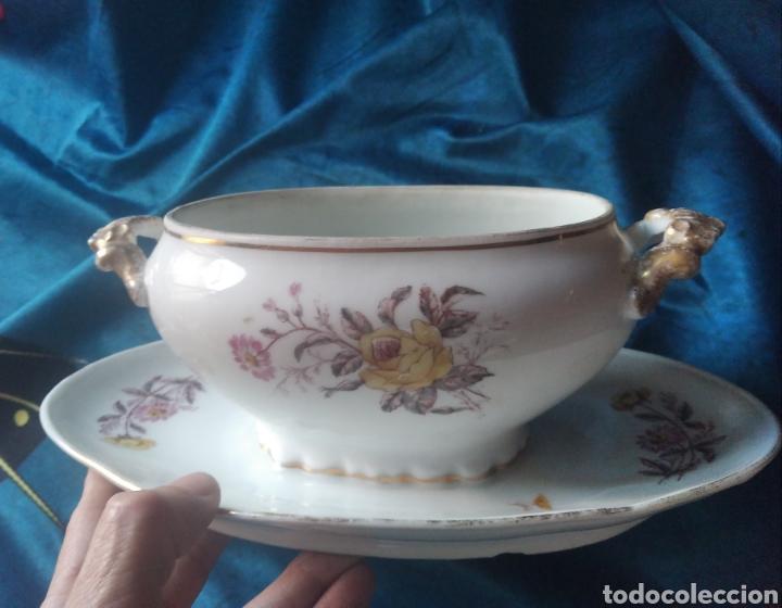 Vintage: Salsera porcelana flores - Foto 3 - 247953060