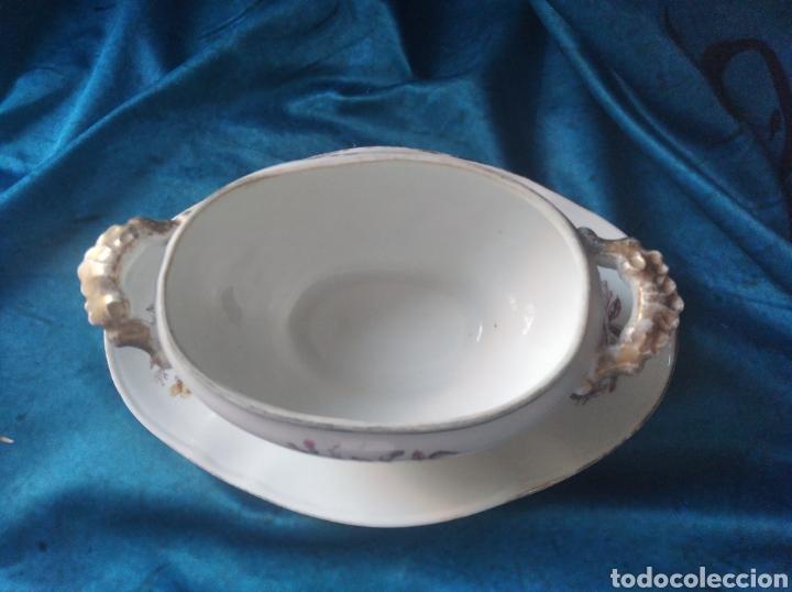 Vintage: Salsera porcelana flores - Foto 6 - 247953060