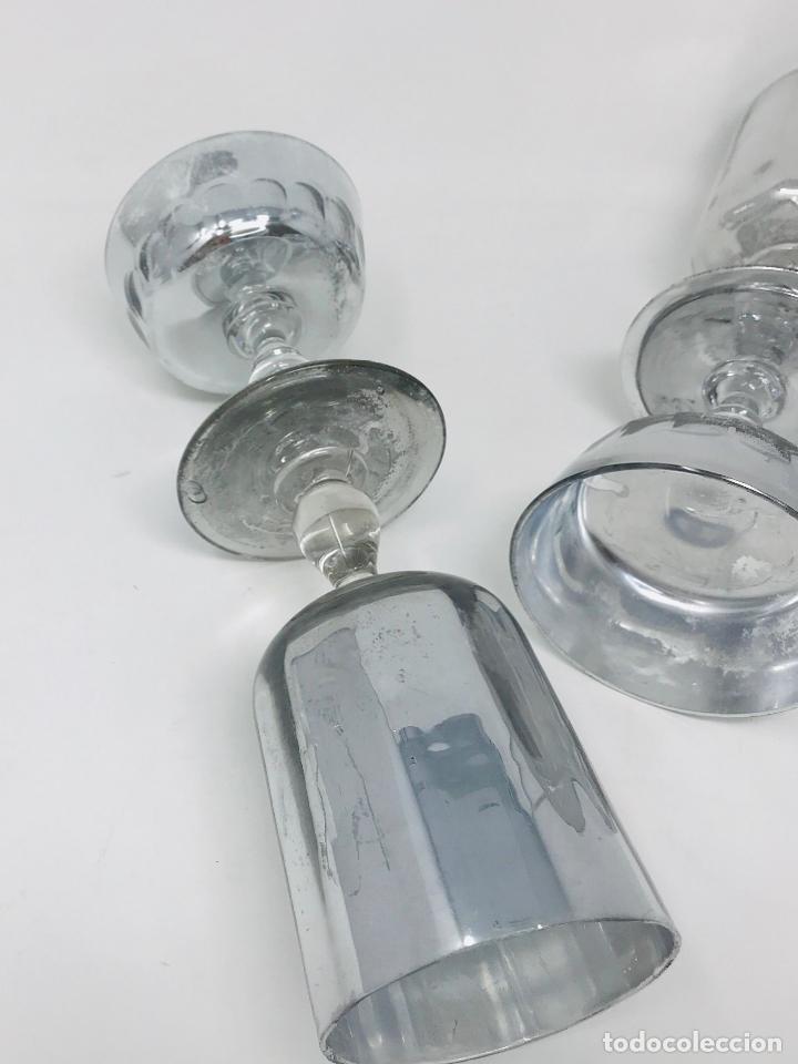 Vintage: Pareja de candelabros cristal - Foto 2 - 249544900