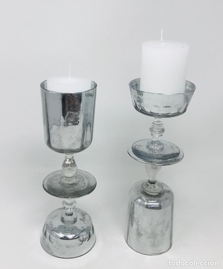 Vintage: Pareja de candelabros cristal - Foto 6 - 249544900
