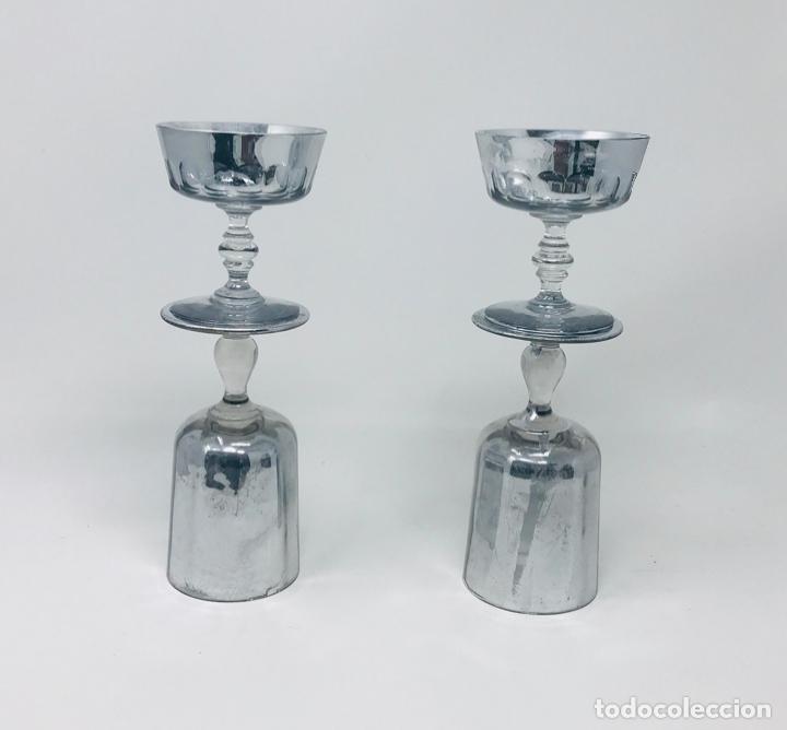 Vintage: Pareja de candelabros cristal - Foto 10 - 249544900