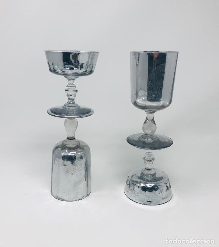 Vintage: Pareja de candelabros cristal - Foto 11 - 249544900
