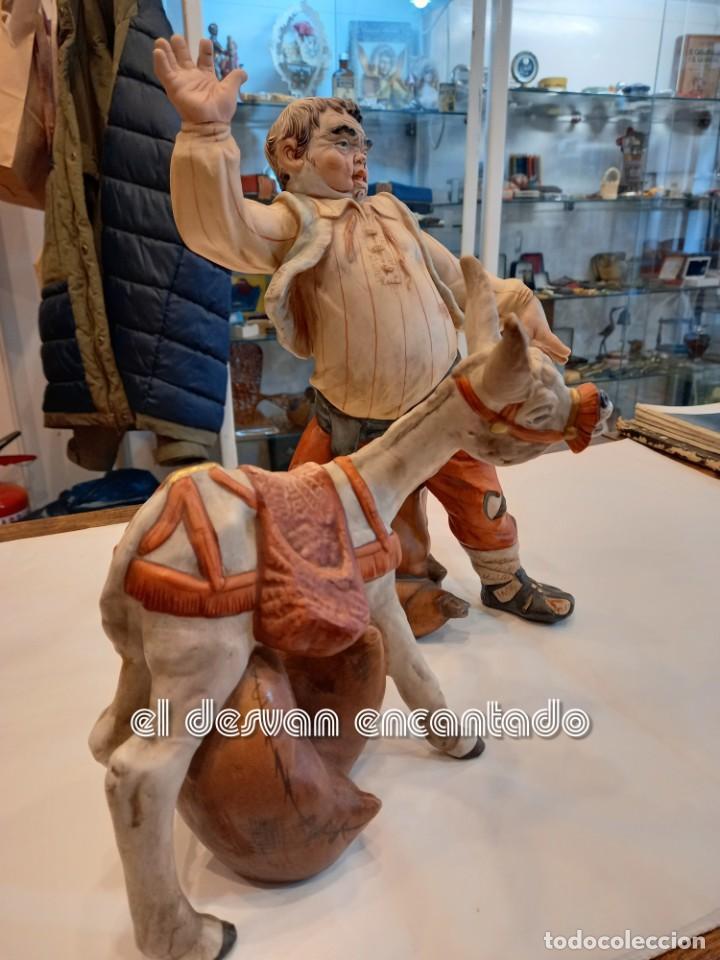Vintage: SANCHO PANZA y el ASNO. FIguras de porcelana PAESA. Quijote-Cervantes.... - Foto 4 - 251502510