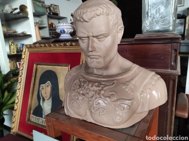 Vintage: Busto tipo romano de la casa Nadal, grande. Con cuño en la base. 31x34cm - Foto 2 - 252198995