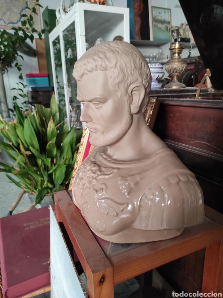 Vintage: Busto tipo romano de la casa Nadal, grande. Con cuño en la base. 31x34cm - Foto 3 - 252198995