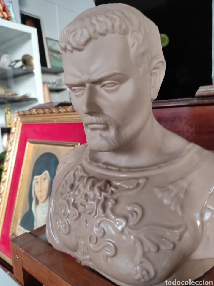 Vintage: Busto tipo romano de la casa Nadal, grande. Con cuño en la base. 31x34cm - Foto 4 - 252198995