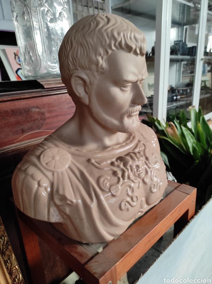 Vintage: Busto tipo romano de la casa Nadal, grande. Con cuño en la base. 31x34cm - Foto 5 - 252198995