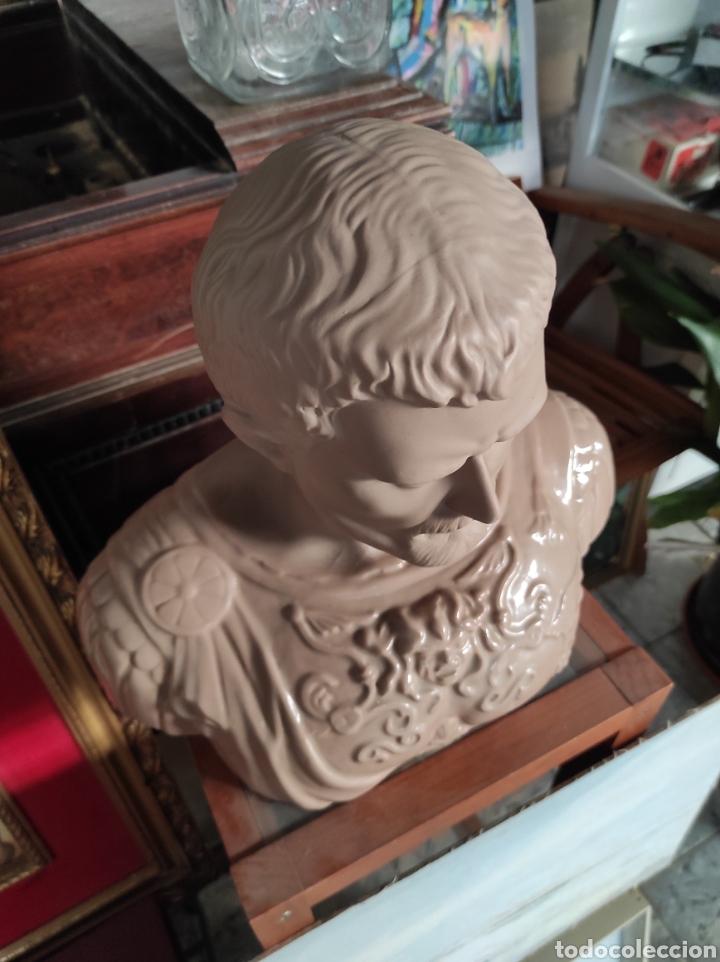 Vintage: Busto tipo romano de la casa Nadal, grande. Con cuño en la base. 31x34cm - Foto 6 - 252198995