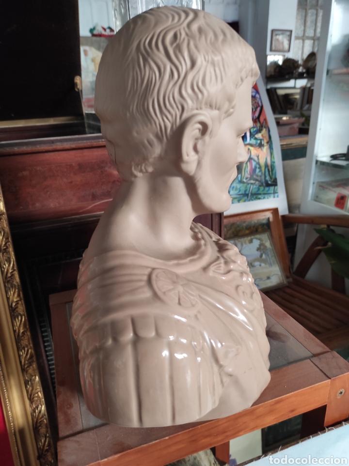 Vintage: Busto tipo romano de la casa Nadal, grande. Con cuño en la base. 31x34cm - Foto 7 - 252198995