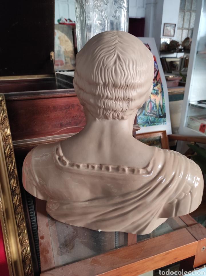 Vintage: Busto tipo romano de la casa Nadal, grande. Con cuño en la base. 31x34cm - Foto 8 - 252198995