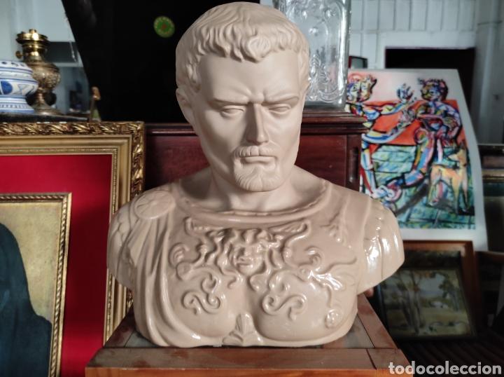 BUSTO TIPO ROMANO DE LA CASA NADAL, GRANDE. CON CUÑO EN LA BASE. 31X34CM (Vintage - Decoración - Porcelanas y Cerámicas)