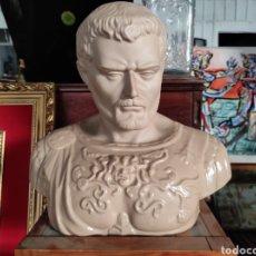 Vintage: BUSTO TIPO ROMANO DE LA CASA NADAL, GRANDE. CON CUÑO EN LA BASE. 31X34CM. Lote 252198995