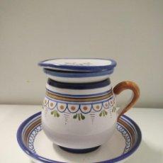 Vintage: TAZA DE TALAVERA CON PLATO. Lote 252756030