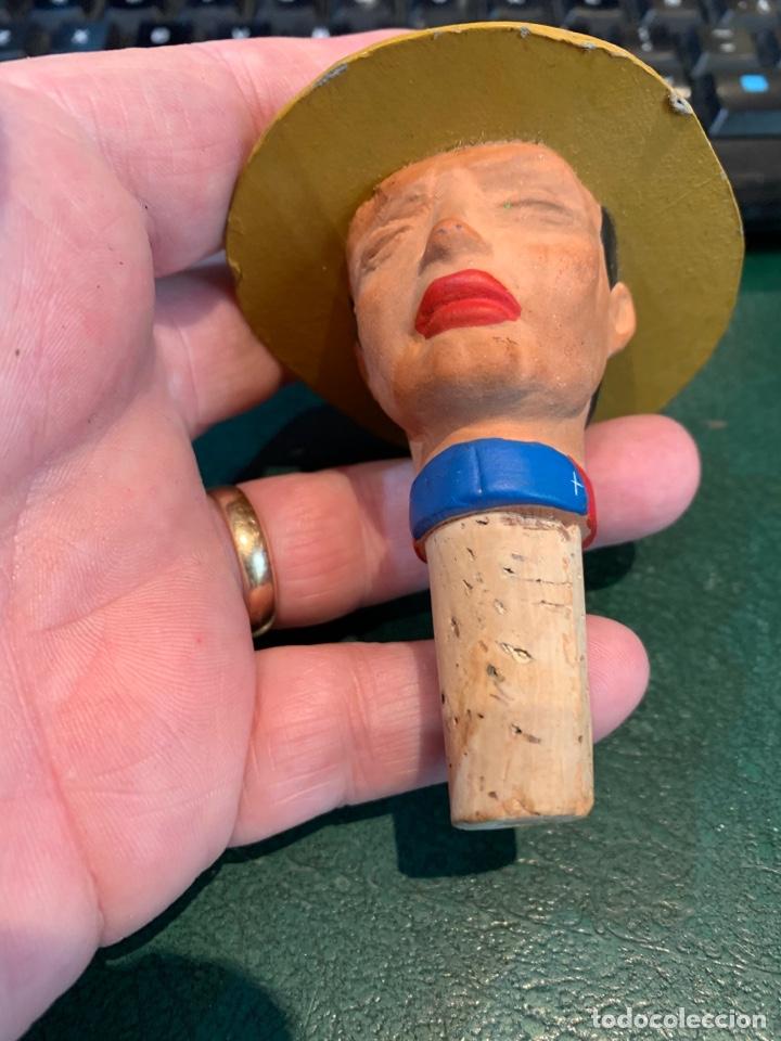 Vintage: Tapón de Botella Antiguo Cerámica Cara con Gorro tipo Boy Scouts (2) - Foto 8 - 253436780