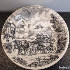 Vintage: PLATO DE PORCELANA SAN CLAUDIO SERIE DRÜCH POSTA (ENVÍO 4,31€). Lote 254113920