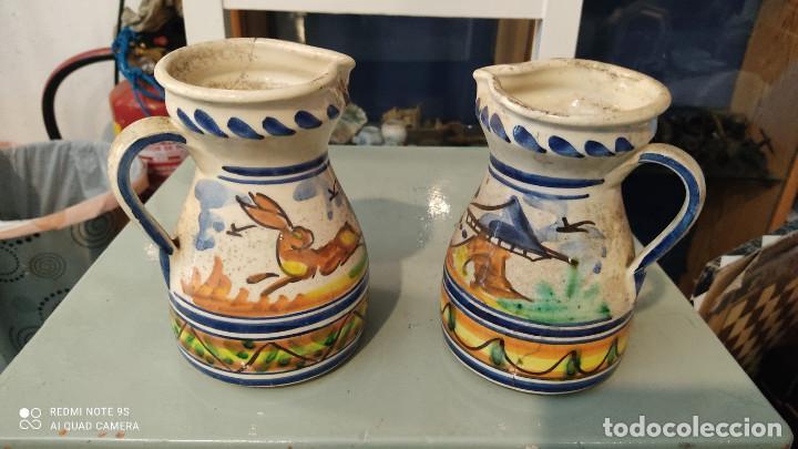 2 JARRAS CERAMICA (Vintage - Decoración - Porcelanas y Cerámicas)